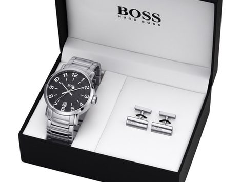 Reloj masculino y gemelos de Boss Watches