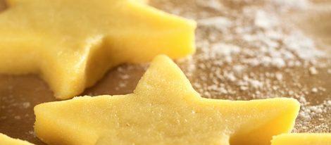 Masa de galletas en forma de estrella