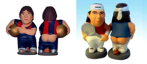 Desde el Rey Juan Carlos a Messi, los nuevos caganers de 2011 recrean a los personajes ms famosos