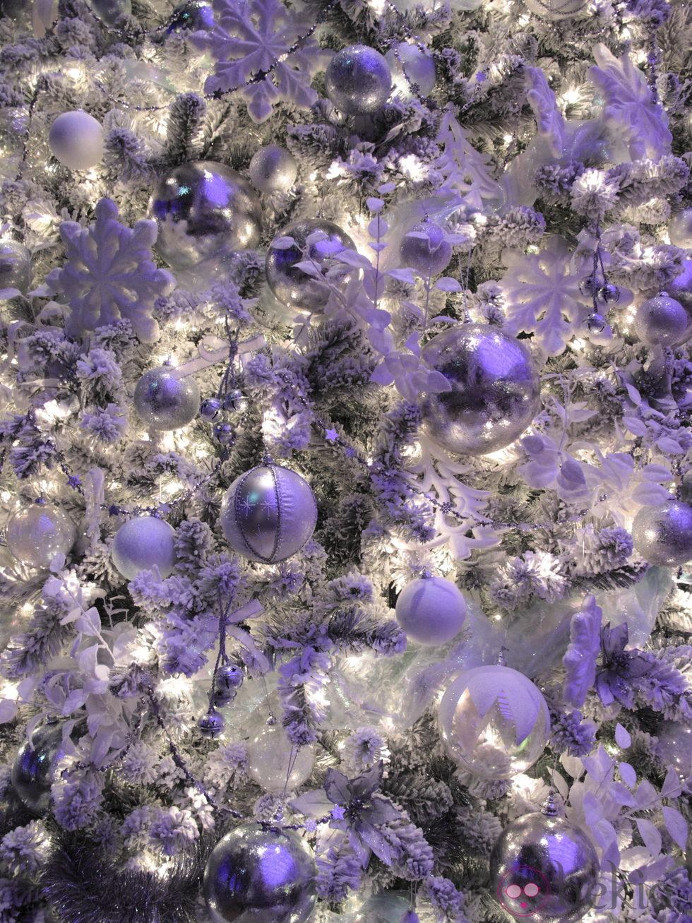 Árbol de Navidad blanco y morado: Fotos de Navidad en Bekia Navidad