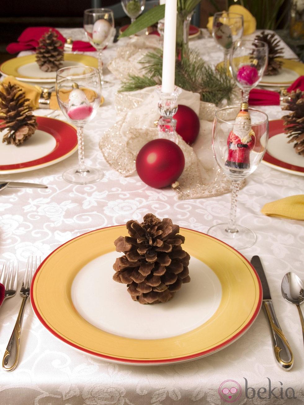 C mo decorar una mesa de navidad fotos de navidad en for Como decorar la mesa para navidad