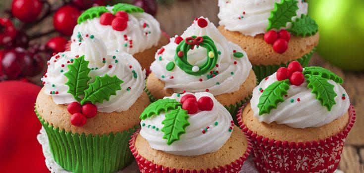 Postres de navidad cupcakes de navidad - Hacer magdalenas con ninos ...